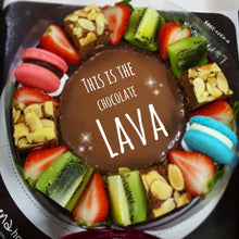 Chocolate Lava cake with fruits