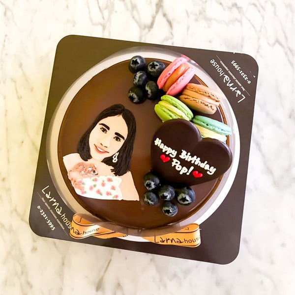 Portrait with cutie decoration on Larna Cake