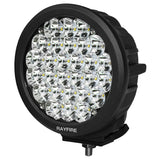 "RAYFIRE 7"" 140W 6000K Round LED Driving Light - Black Ring"