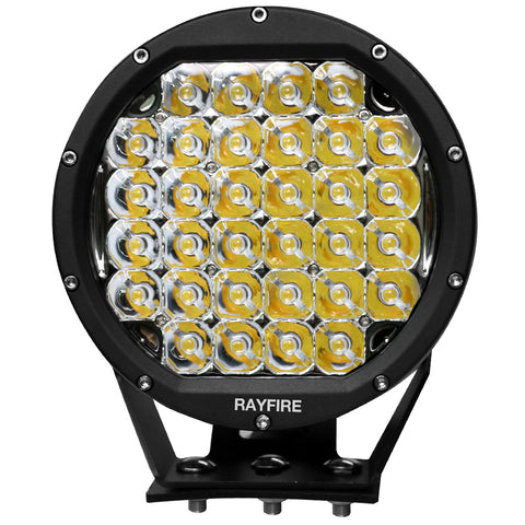 "RAYFIRE 8"" 160W Round Off Road LED Driving Light - Black Ring"