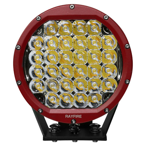 "RAYFIRE 8"" 160W Round Off Road LED Driving Light - Red Ring"