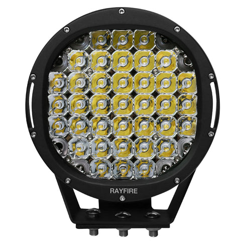 "RAYFIRE 9"" 185W 6000K Round LED Driving Light - Black Ring"