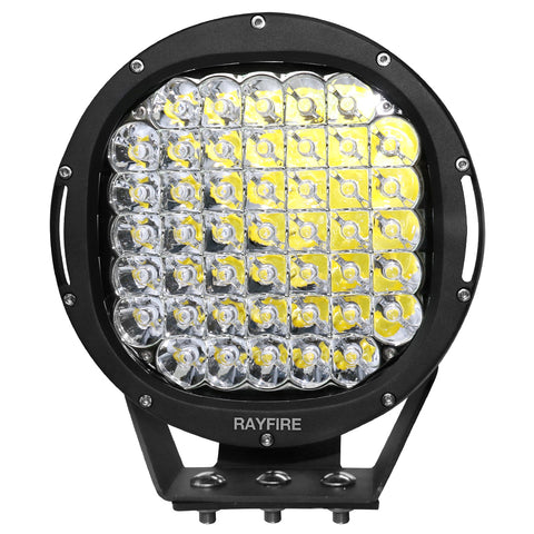 "RAYFIRE 9"" 225W 6000K Round LED Driving Light - Black Ring"