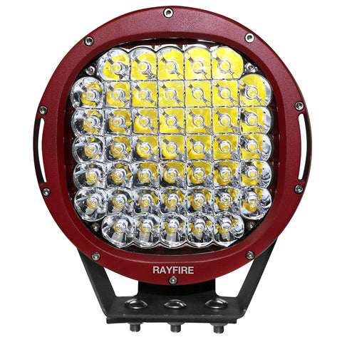 "RAYFIRE 9"" 225W 6000K Round LED Driving Light - Red Ring"