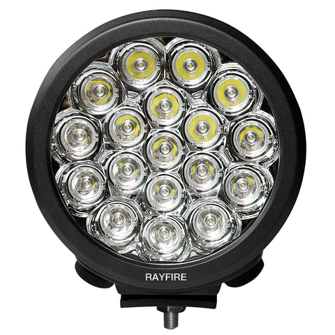 "RAYFIRE 7"" 90W 6000K Round LED Driving Light - Black Ring"