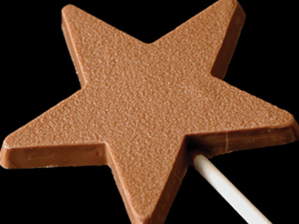 1oz Chocolate Star Lollipop