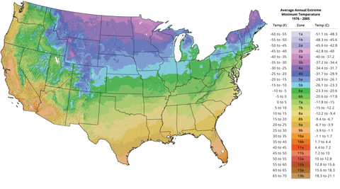 DutchGrown - USDA Plant Hardiness Zone map