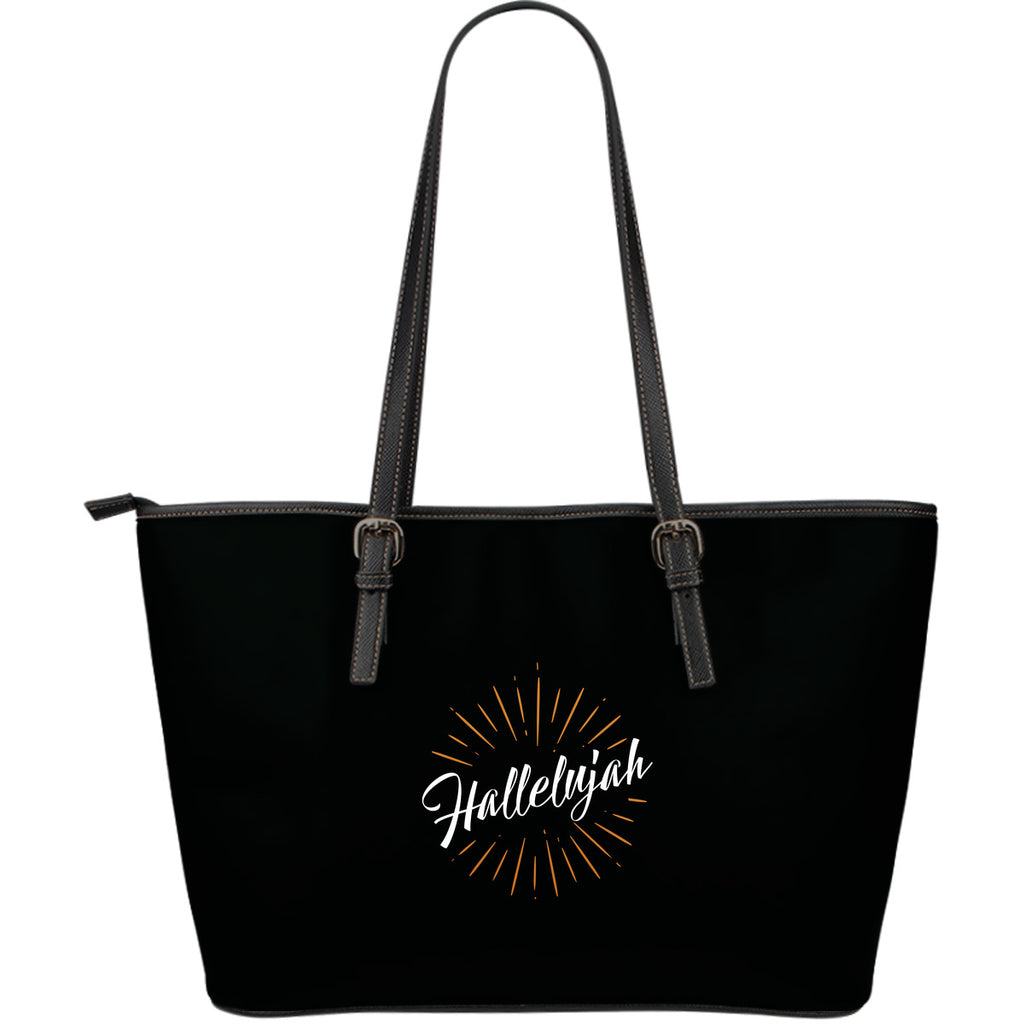 Hallelujah - Large Leather Tote Bag