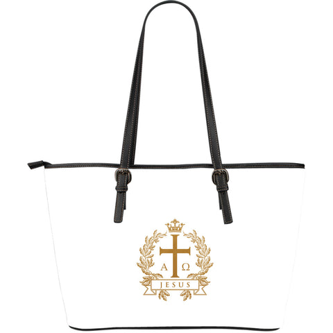 Alpha Omega - Large Leather Tote Bag