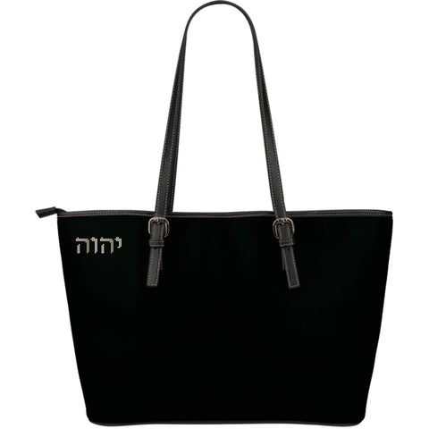 Carry His Name - Large Leather Tote Bag