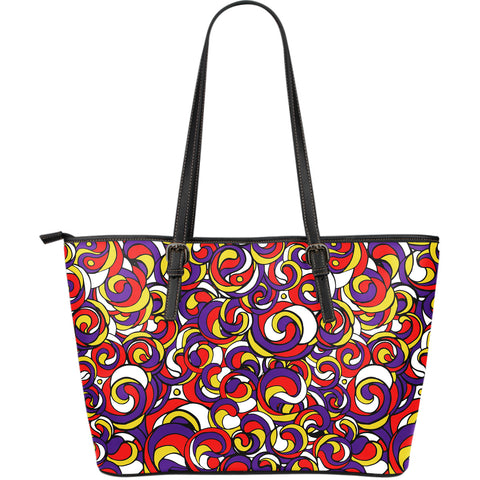 Like A Hurricane - Large Leather Tote Bag