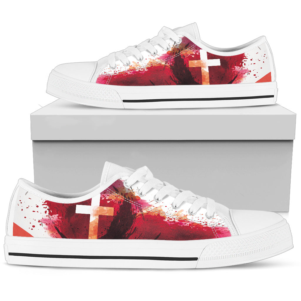 Men's Low Top - Blood of Jesus