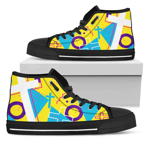 Men's High Top - Cross Pattern