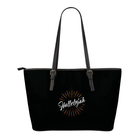 Hallelujah - Small Leather Tote Bag