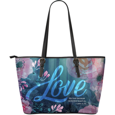 God's Love Large Leather Tote
