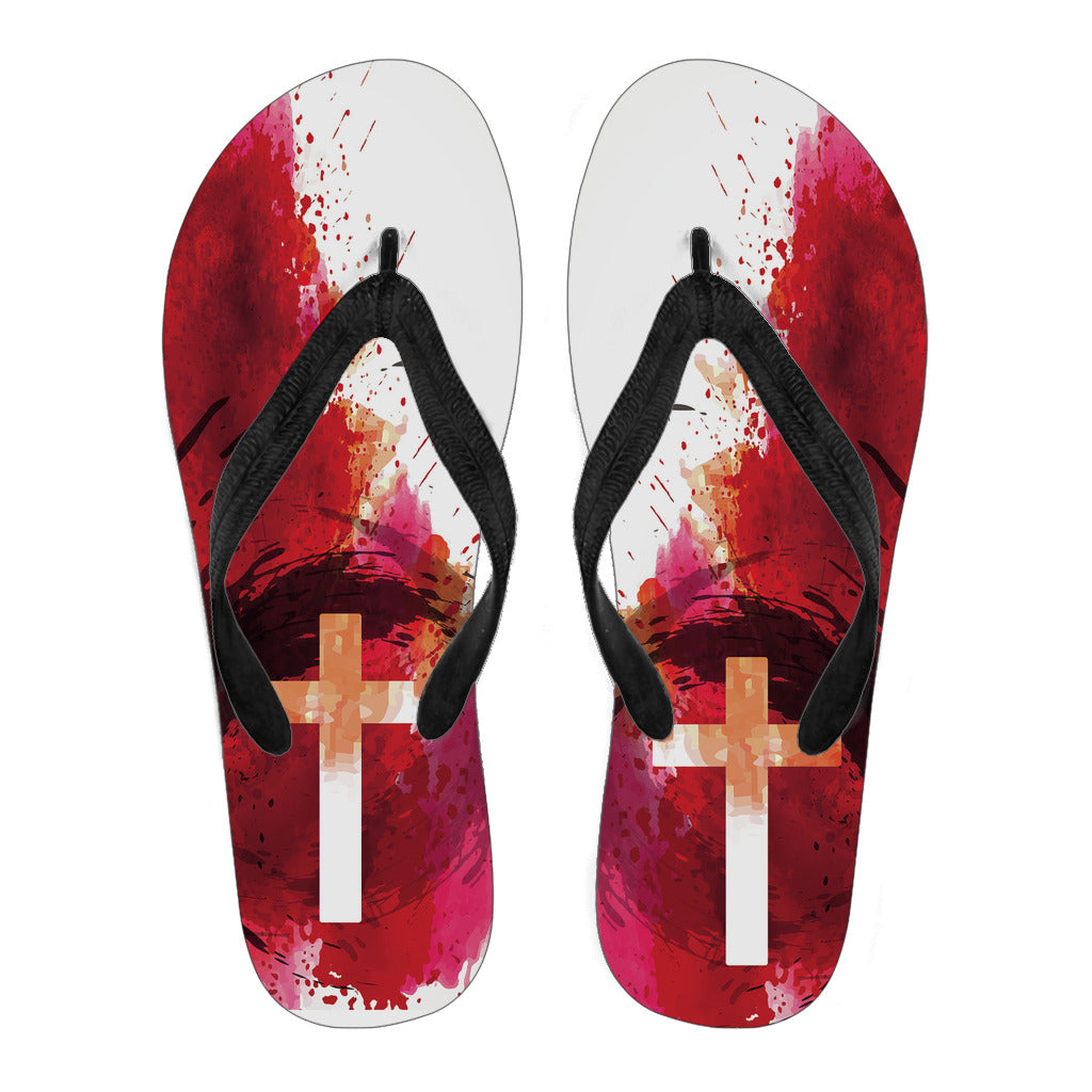 Blood of Jesus - Men's Flip Flops