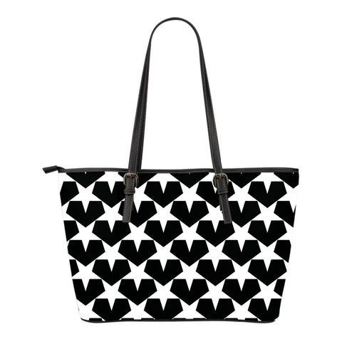 When I Look At Your Heavens - Small Leather Tote Bag