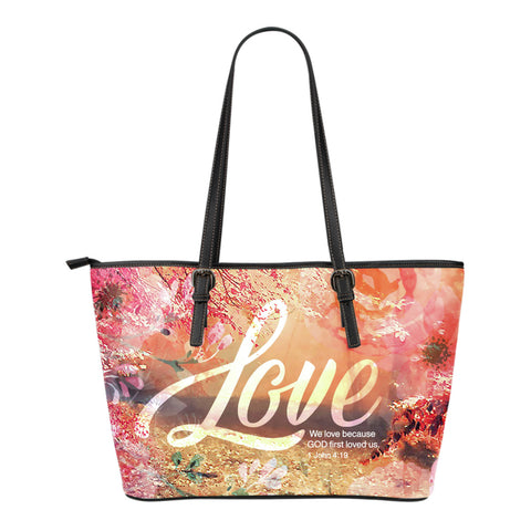God's Love Small Leather Tote