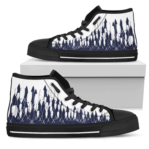 Women's High Top - Fish Arise