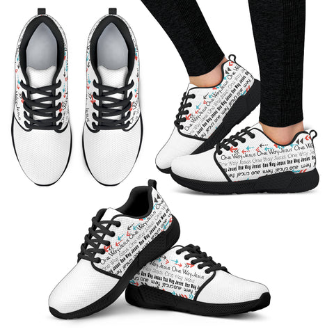 One Way Jesus - Women's Athletic Sneakers