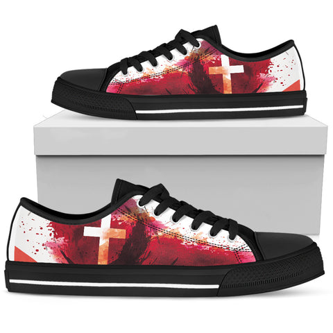 Women's Low Top - Blood of Jesus