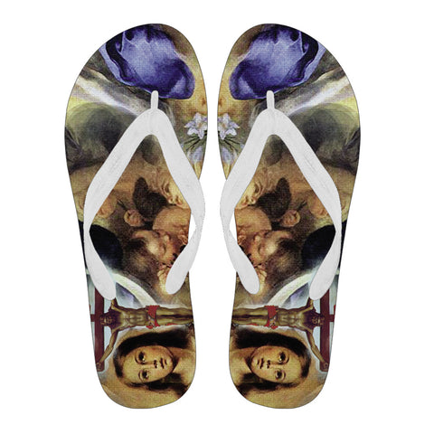 Art of Christ - Men's Flip Flops