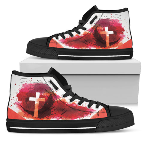 Women's High Top - Blood of Jesus