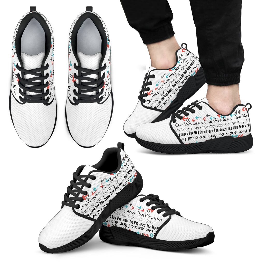 One Way Jesus - Men's Athletic Sneakers