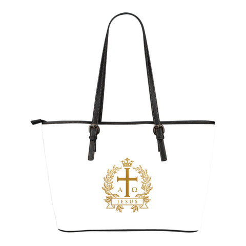 Alpha Omega - Small Leather Tote Bag