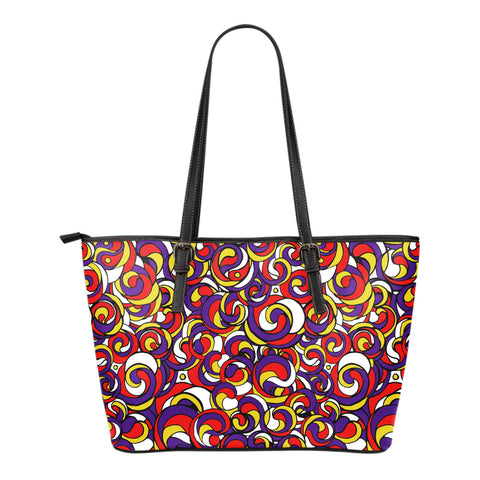 Like A Hurricane - Small Leather Tote Bag