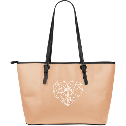 Love Large Leather Tote Bag