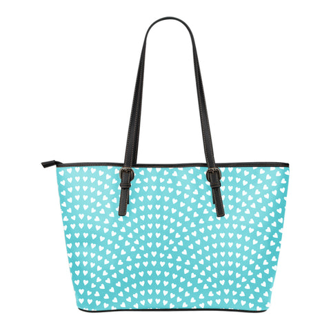 Mightier than the Waves of the Sea - Small Leather Tote Bag