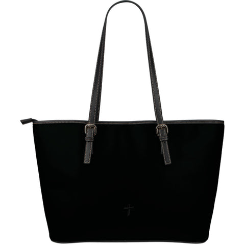 Cling to the Cross - Large Leather Tote Bag