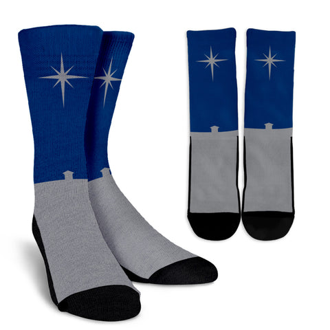 Nativity Star - Men's Crew Socks