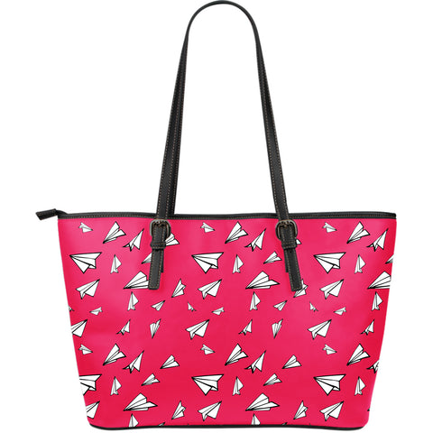 Make Me Fly - Large Leather Tote Bag