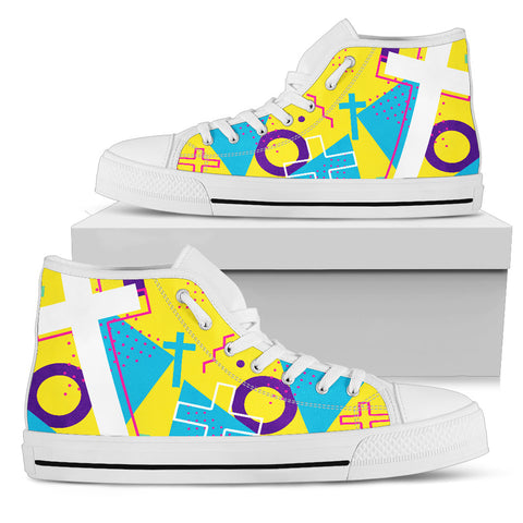 Women's High Top - Cross Pattern