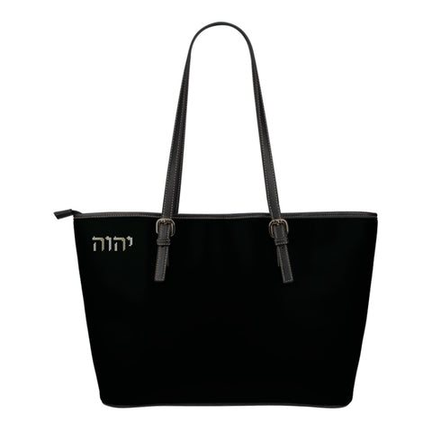 Carry His Name - Small Leather Tote Bag