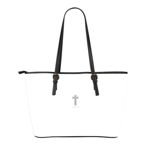 Five Star Faith - Small Leather Tote Bag