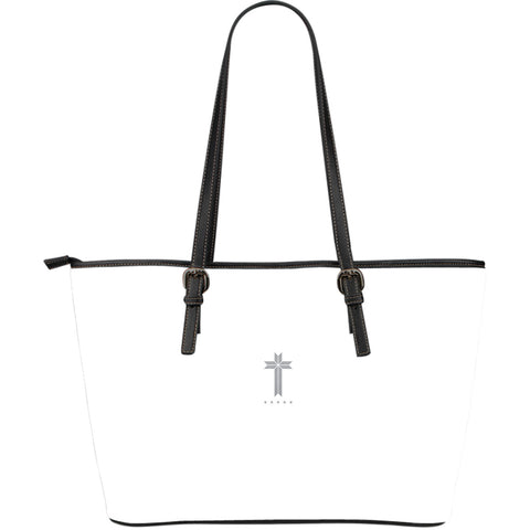 Five Star Faith - Large Leather Tote Bag