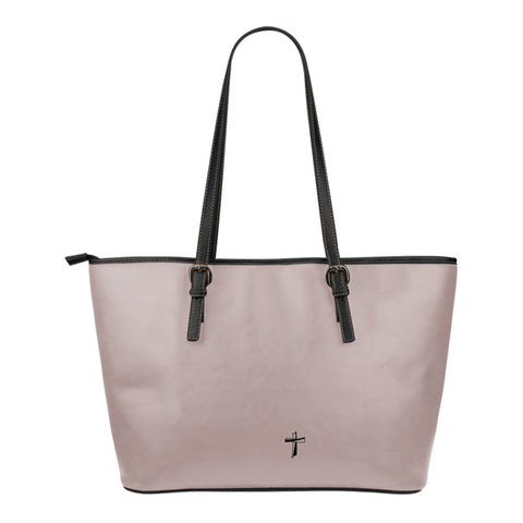 Cling to the Cross - Small Leather Tote Bag