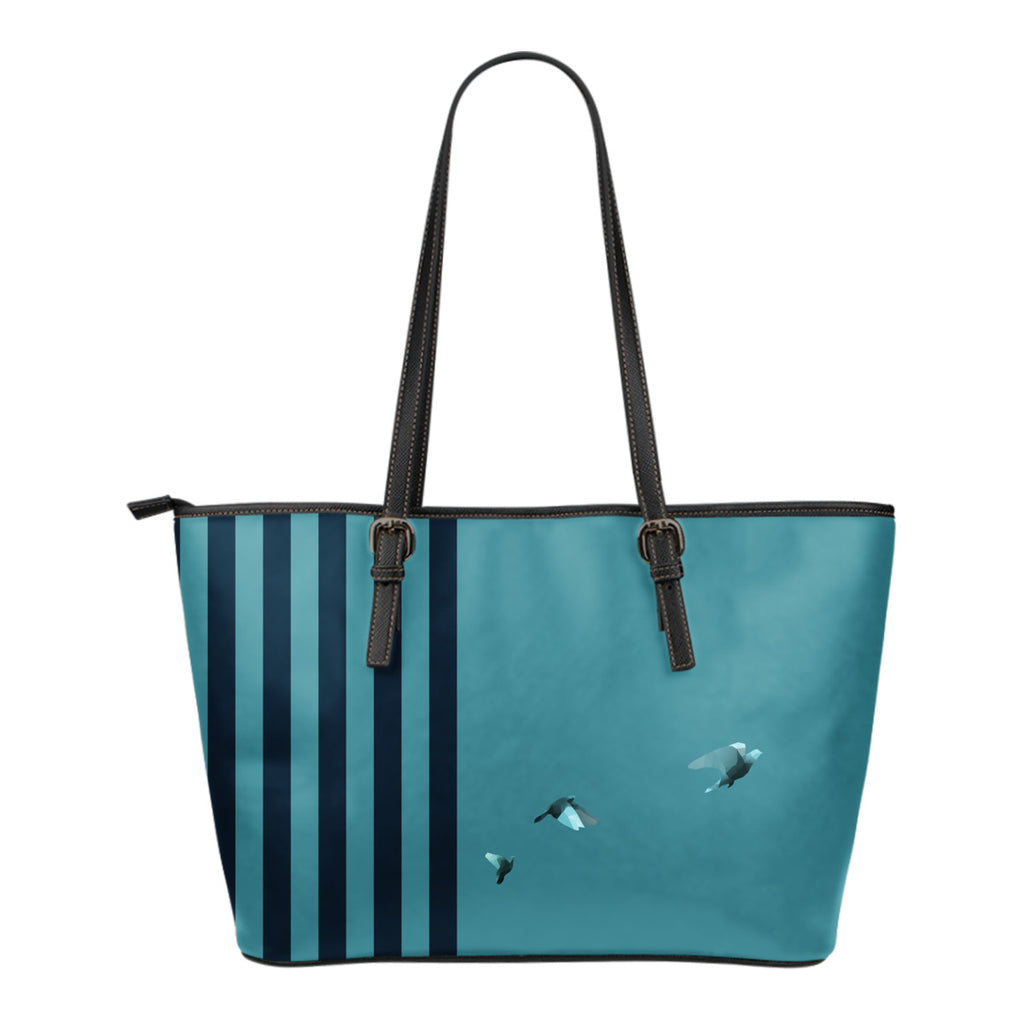 Free At Last - Small Leather Tote Bag