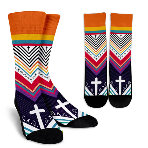 Women's Crew Socks - Cross Patterns 2