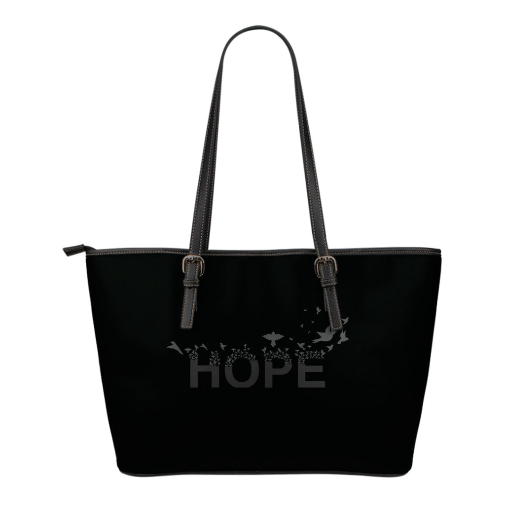 Hope 2 Small Leather Tote Bag