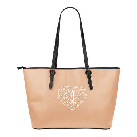 Love Small Leather Tote Bag