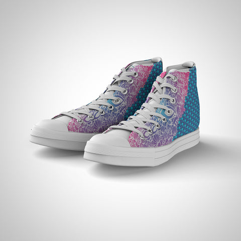 Women's High Top - Fish Attack