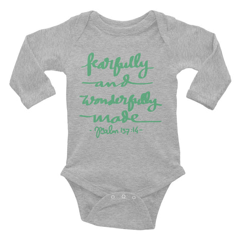 Fearfully and Wonderfully Made - Infant Long Sleeve Bodysuit