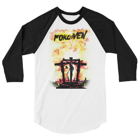 Unisex Raglan  - Forgiven - Yellow
