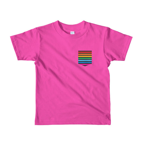 Pocket the Rainbow - Short sleeve kids t-shirt