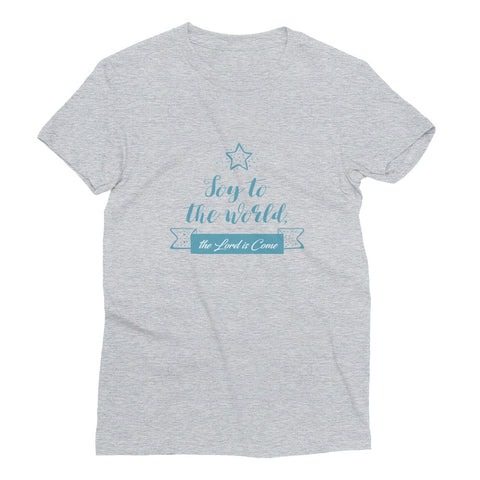 Women's Short Sleeve T-Shirt - Joy to the world the Lord is come