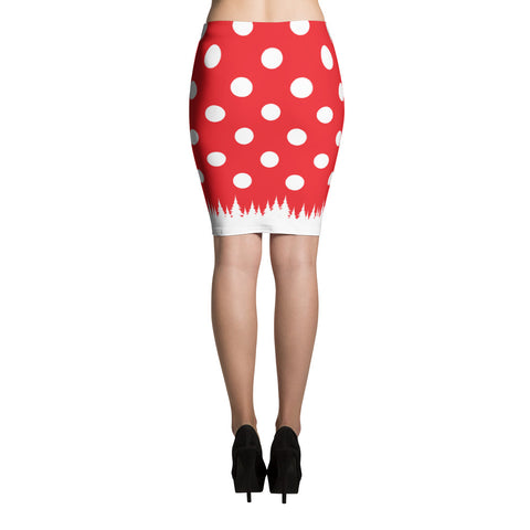 Polka Christmas - Pencil Skirt